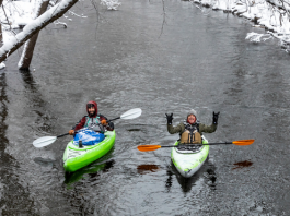 cold weather kayaking